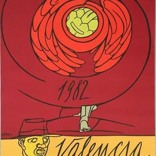 Valerio Adami - Football World Cup- 1982