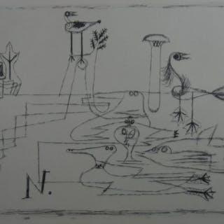 Paul Klee (1878 - 1940) - Vogelinsel 1921 -limitierte Auflage 700 Exemplaren.