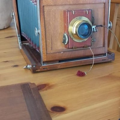W.kenngott - appareil photo à soufflet  (1) - Bois