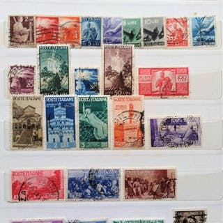 Italien Republik 1945/2010 - Selection of stamps from the period - Sassone