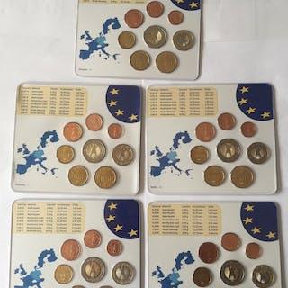 Deutschland - Euro 5 Kursmünzensätze 2004 (A,D,F,G,J)