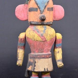Statue / poupée - Bois, Plumes - Kachina - Hopi-Style - Arizona, États-Unis