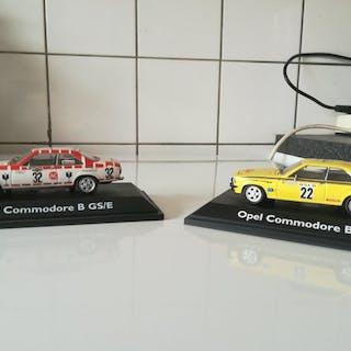 Schuco - 1:43 - 2 x Opel Commodore GSE- Rallye
