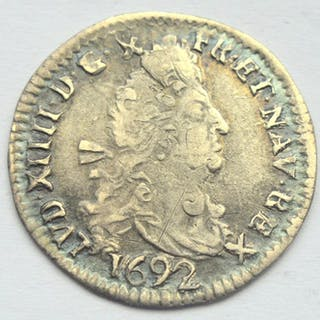Frankreich - Louis XIV - 4 Sols 1692-N (Montpellier) - Silber