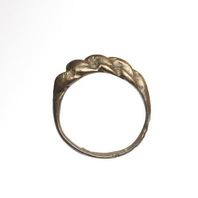 Viking BronzeTwisted Ring