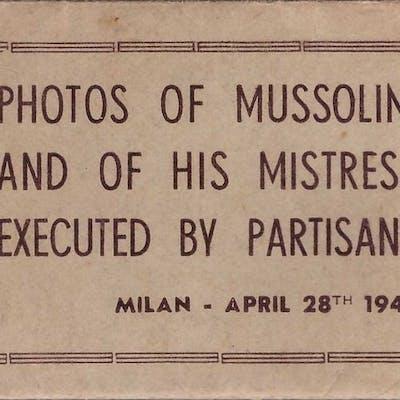 Italia - cinque fotografie originali di Mussolini ed...