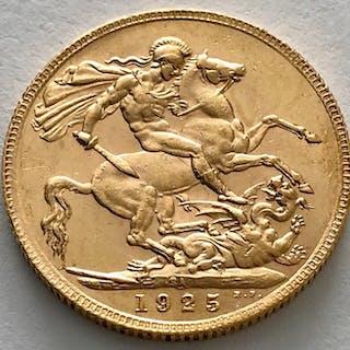 Sudafrica - Sovereign 1925 SA - George V. - Oro