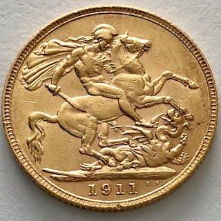 Regno Unito - Sovereign 1911 - George V. - Oro