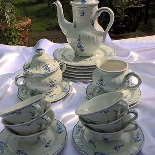 De Porceleyne Fles - 6-person Delftware breakfast set - 21 pieces (21) - Ceramic