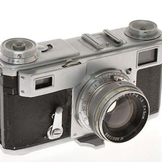 """Kiev Arsenal, Kiev II 1950 fotocamera """"senza nome"""" con 50/2 Jupiter-8, exc ++"""