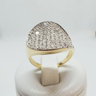 18 kt. Yellow gold - Ring - 1.40 ct Diamond