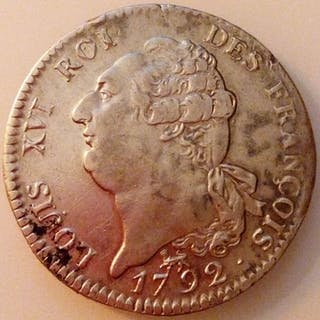 Frankreich - Louis XVI (Constitution) - Ecu au génie 1792-A (Paris) - Silber