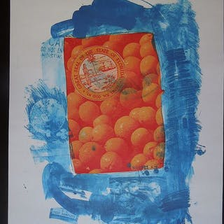 Robert Rauschenberg - Banner (Stoned moon)