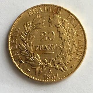France - 20 Franc 1851-A (Paris)- Gold