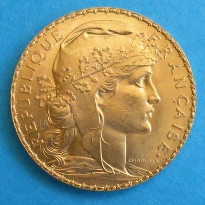France - 20 Franc 1910 - Or