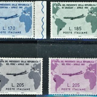 Italien Republik 1961 - Gronchi complete set with Gronchi...