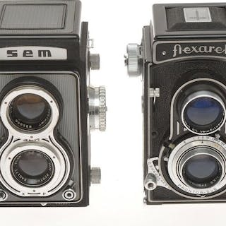 Sem Semflex and Meopta Flexaret,couple of TLR cameras, exc+++ sold as is
