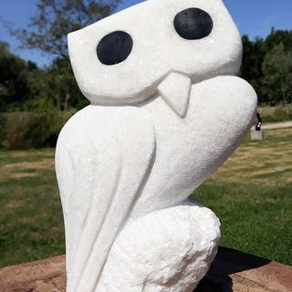 William Murenza - Owl sculpture, shona-art