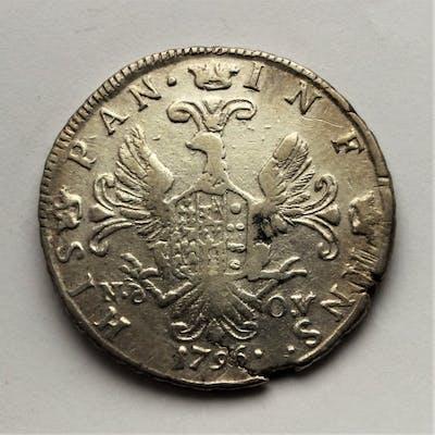 Italia - Regno di Sicilia - 6 Tari 1796 - Ferdinando III di Borbone - Argento