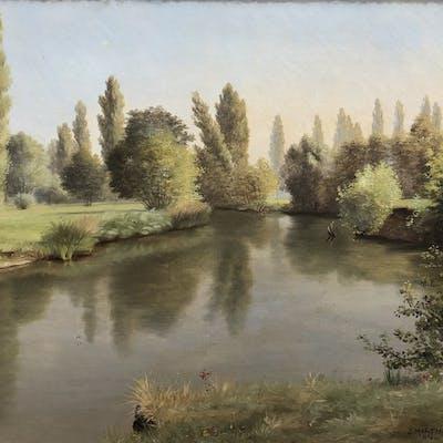 J. Martin (XIX) - Paesaggio