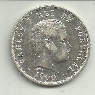 Portugal - Monarquia - D. Carlos I (1889-1908) - 500 Reis1900 - Rara- Silver