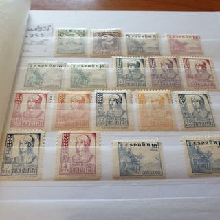 Spanien 1937/1944 - Group of sets of the first and second...