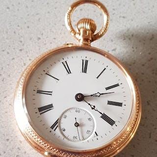 GENEVE - Schmuck Lepine Goldtaschenuhr - Unisex - Schweiz 1880