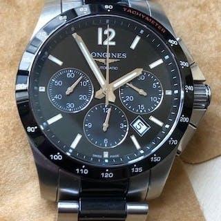 Longines -Conquest Automatic Chronograph Black Dial -L2.744.4.56.7