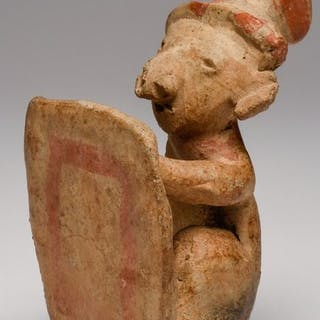 Pottery - Chinesco warrior figure with shield - Mexico