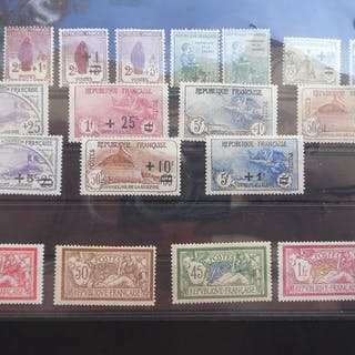 Frankreich 1917/1927 - A lovely lot with 15 Orphelins de...