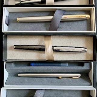 Parker - Penna a sfera, Penna stilografica, Matita - Gruppo di 6