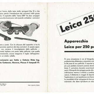 Leica (Leitz) very rare leaflet (4 pages) of the Leica 250 Reporter 1934