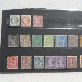 France 1872/1927 - plusieurs séries de timbres type Cérès dentelés