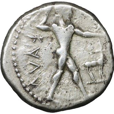 Grecia (antica) - Bruttium, Kaulonia. Nomos or Stater, 480-380 BC - Argento