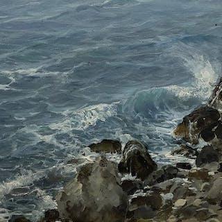 Michele Federico (1884 - 1966) - Scogli -Capri-