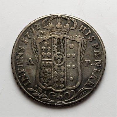 Italia - Regno di Napoli - Mezza Piastra 1792 - Ferdinando IV - Argento