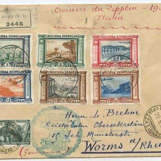 Italien 1933 - Zeppelin R travel letter - Unificato 3445