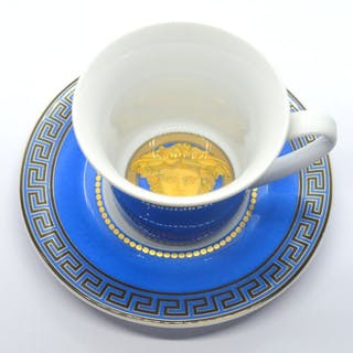 Versace - Rosenthal - tazza e piattino - Porcellana