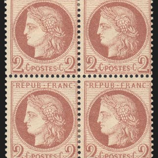 Frankreich 1872 - Ceres 2 centimes red-brown
