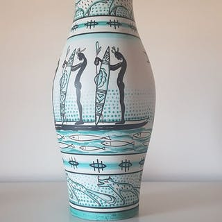 Giuseppe Šebesta (1919-2005) - Grazia Deruta Italy - Vaso - Ceramica