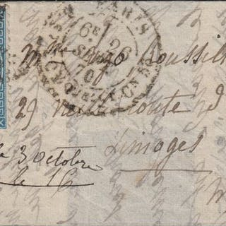 Frankreich 1870 - 'Les Etats-Unis' balloon mail bound for Limoges