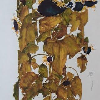 Egon Schiele (1890 - 1918) - Sonnenblumen (1911)