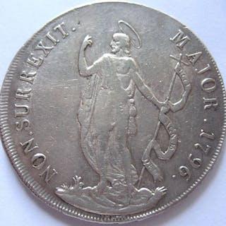 Italy - Genova Dogi Biennali terza fase, 8 Lire 1796 (R)- Silver