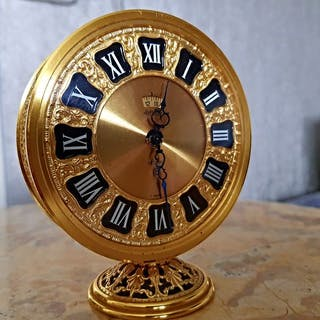Travel clock - Jaeger LE COULTRE - gold colors - Second half 20th century