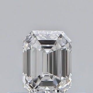 1 pcs Diamant - 0.31 ct - Émeraude - E - IF (pas d'inclusions)