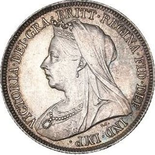 Vereinigtes Königreich - Shilling1896, Victoria- Silber