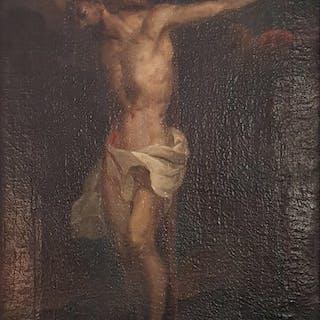 Scuola italianaXVII secolo- Crocifissione