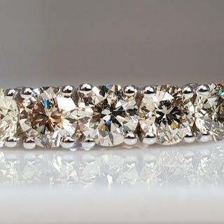 14 kt. White gold - Five Stone Ring - 1.60 ct Diamond - No ReserveVS