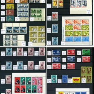 Niederlande 1956/1969 - Collection of plate errors