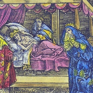 Hans Weiditz (1500-1536)-Master Woodcut - The Death of a King - 1532